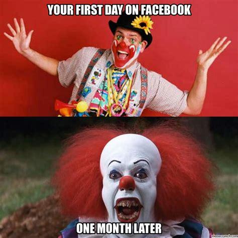 Clown Meme - 30 days on facebook clowns