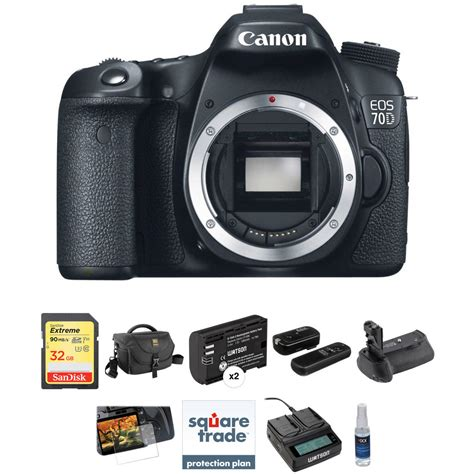 Kamera Dslr Canon Eos 70d 70 D Kit 18 135mm Is Stm 1 Canon Eos 70d Dslr Deluxe Kit B H Photo