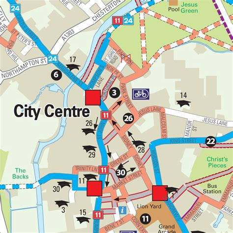map city centre four point mapping cycling