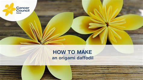 How To Make Paper Daffodils - origami daffodil choice image craft decoration ideas
