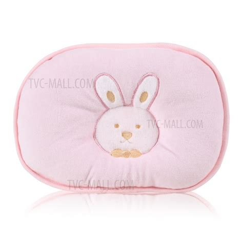 Breathable Pillow For Baby by Best Baby Rabbit Pattern Breathable Cotton Protection Baby Flat Newborn Pillow Pink Tvc
