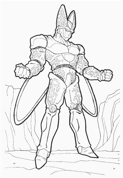 Dbz Coloring Pages Coloring Pages To Print Cell Coloring Page