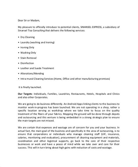 Introduction Letter For Cleaning Business 21 Business Letter Exles