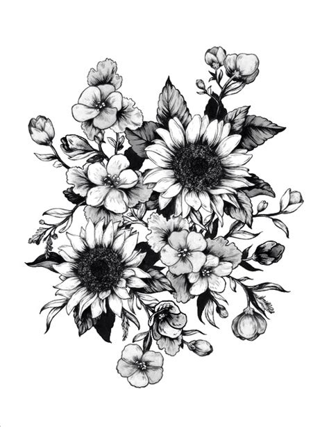 grey flower tattoo designs 35 flower design sles and ideas
