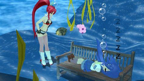 underwater bench anime holding breath underwater hot girls wallpaper