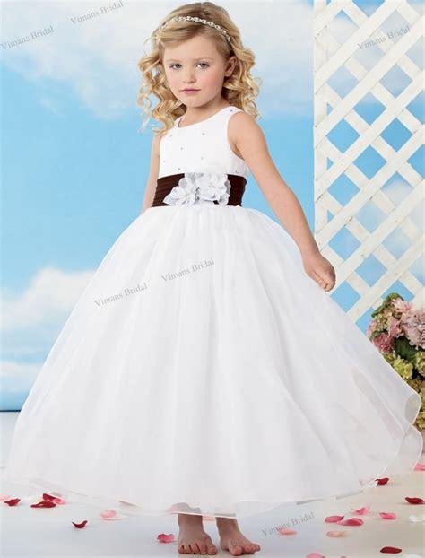 Handmade Childrens Dresses - 2015 free shipping white flower dress gown