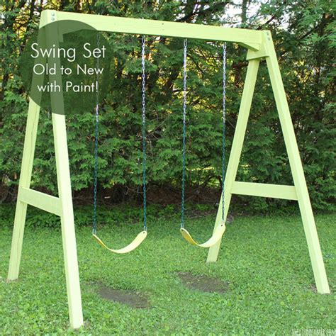 we swing too swing set old to new with paint