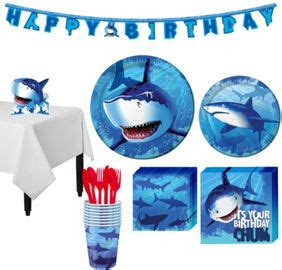shark party supplies shark birthday decorations | party