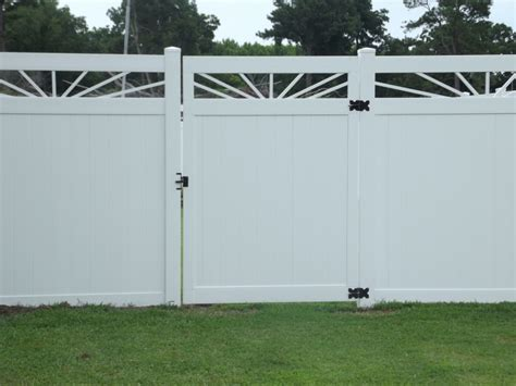 vinyl fence sections residential commercial vinyl fencing eastern nc