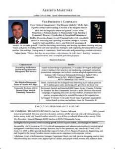executive resume professional resume sles
