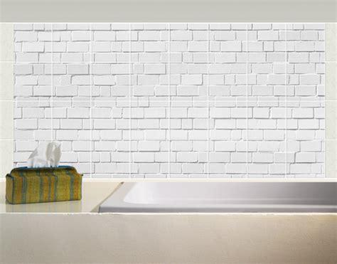 aufkleber fliesen fliesenbild white stonewall fliesen aufkleber dekoration