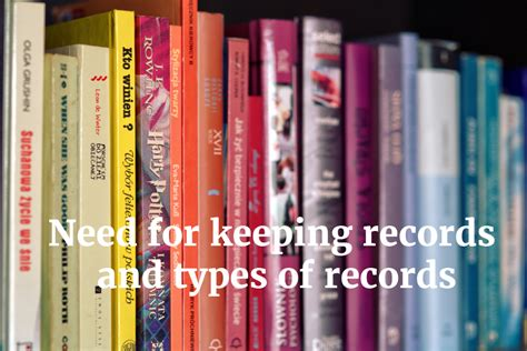 Types Of Records Need For Keeping Records And Types Of Records Ptlls Resource