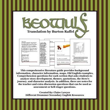 beowulf themes with quotes beowulf literature guide translation by burton raffel
