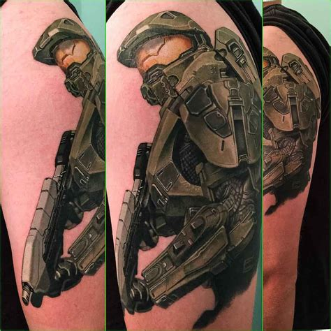 master chief tattoo best tattoo ideas gallery