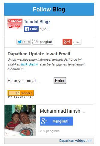cara membuat kotak twitter di blog cara membuat widget kotak subscribe dan sosial media di