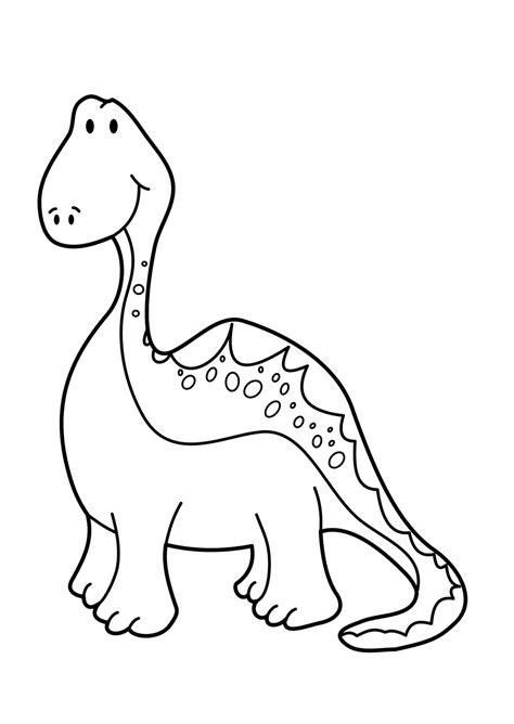 long neck dinosaur coloring pages images