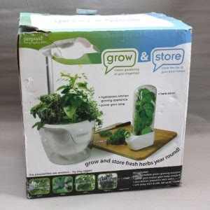 hydroponic herb garden kit prepara grow store indoor gardening system and herb storage kit hydroponic ebay