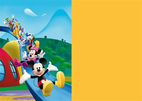mickey mouse clubhouse digital invitation step