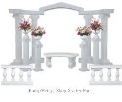 Wedding Arches And Columns For Sale Plastic Wedding Columns And Arch Starter Pack