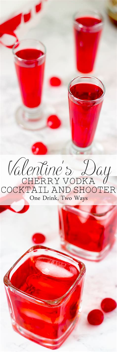 s day cherry vodka cocktail and shooter