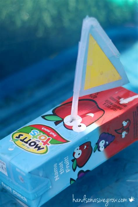 kid craft boats boat craft for to make from juice boxes that really