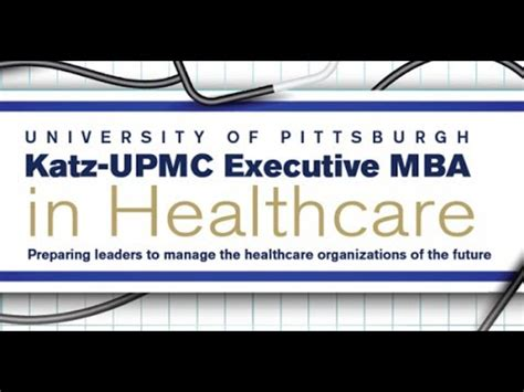 Pitt Mba Healthcare overview executive mba in healthcare