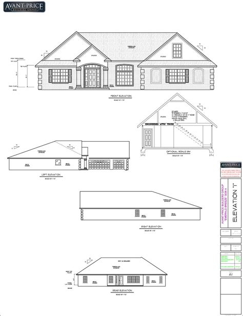 floor plan and elevation of a house elevation and floor plan of a house escortsea