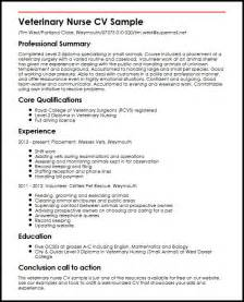 sample veterinary resume 1