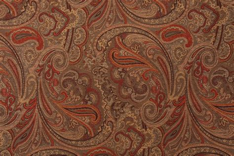 Fabric For Reupholstering Robert Allen Patna Paisley Tapestry Upholstery Fabric In Spice