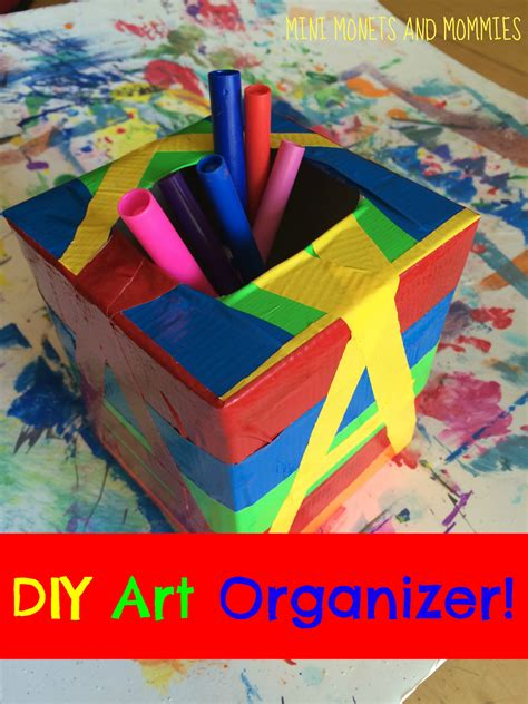 arts and craft mini monets and mommies diy arts and crafts organizer for
