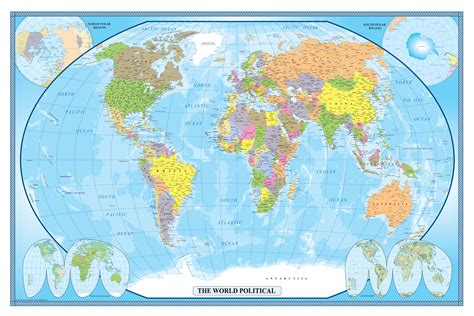 Classic World Map Wallpaper Wall - swiftmaps world classic executive wall map poster