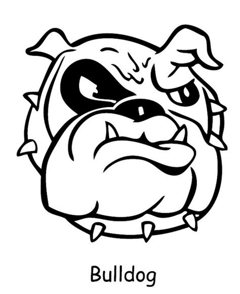 bulldogs coloring page free coloring pages of cute baby bulldog
