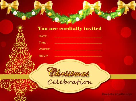 christmas design invitation card christmas invitation card design fun for christmas