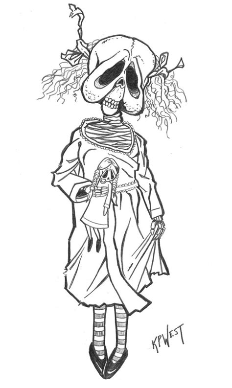 creepy coloring pages adults day010 creepy doll by freakcastle on deviantart coloring