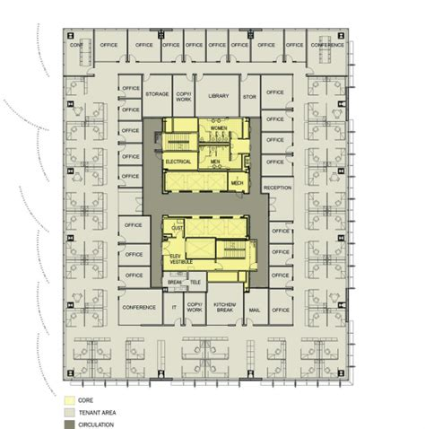 office tower floor plan egww sera architects cutler anderson architect archdaily
