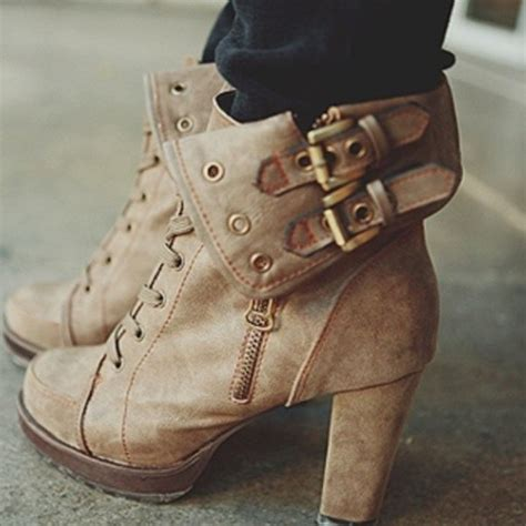 shoes boots high heels brown chic booties