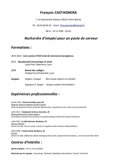 Réalisation Cv by Resume Format Curriculum Vitae Lettre Motivation