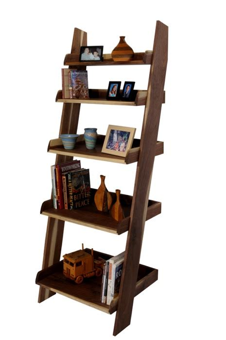 wood wooden ladder bookcase plans pdf plans