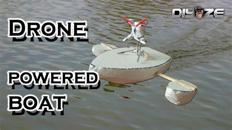 how to make a rc boat youtube how to make rc boat using drone youtube