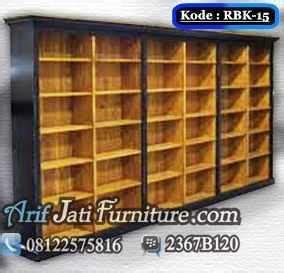 Rak Buku Untuk Perpustakaan rak buku perpustakaan jual almari rak buku kayu jati