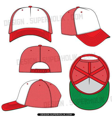 Trucker Hat Template Fashion Vector Templates Pinterest Hat Template Fashion Design Cap Design Template