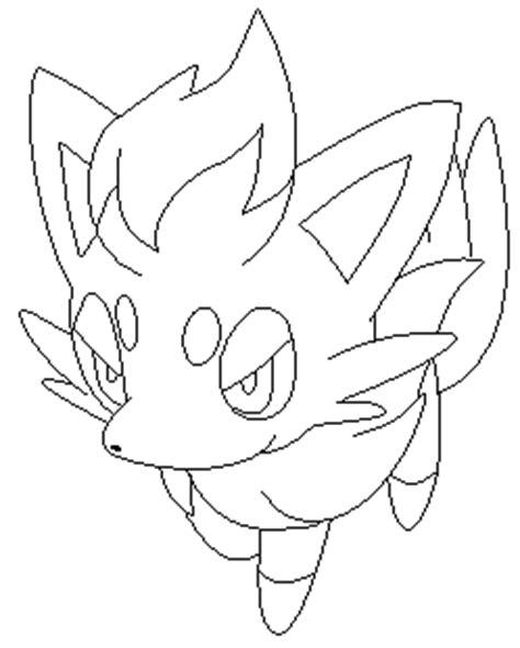 pokemon coloring pages zorua zoroa zorua line art by zoroa on deviantart