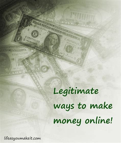 Legit Ways To Make Money Online 2015 - life as you make it