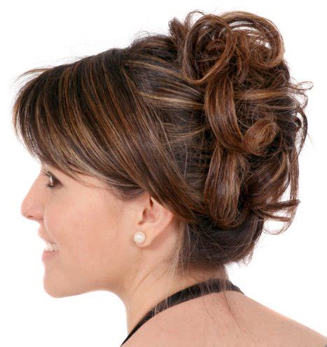 formal hairstyles updos front and back curly updo with sideswept bangs prom wedding formal