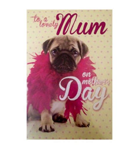 pug cards uk large mothers day pug card i pugs