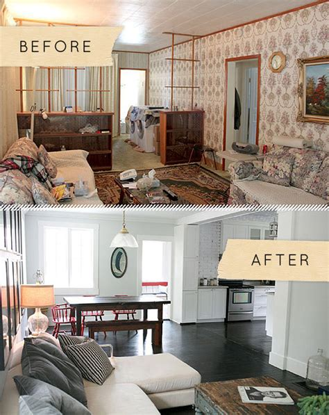Small Living Room Remodel Before And After Before After An Ontario Bungalow Brings The Sea Indoors