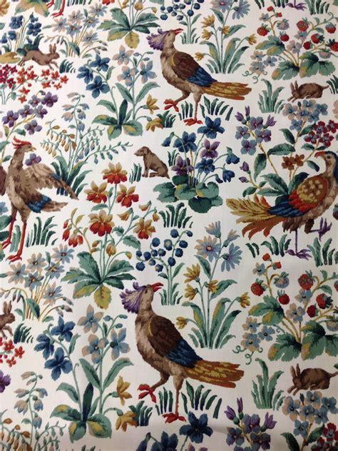 curtain fabric birds sanderson cluny birds dogs rabbits and fauna curtain