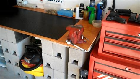 gun work bench the garage workbench for preps and guns youtube