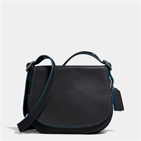 Coach Leather Saddle Black Coach Saddle Bag 23 In Glovetanned Leather In Black Lyst