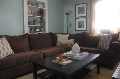 pictures of living rooms with brown sofas blue brown grey living room peenmedia com